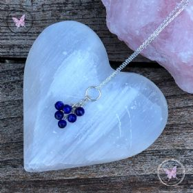Lapis Lazuli Cluster September Birthstone Necklace